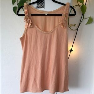 J. Crew tank top with details at shoulders